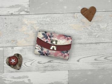 Geldbörse Geldbeutel Geldtasche - Kunstleder Romantic Blossom Mini Genius